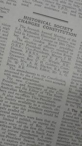 South Australian Methodist article on SA Methodist Historical Society - 15 November 1957